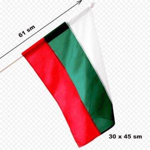 Голямо българско знаме с дръжка, 30 х 45 см, дължина на дръжката 61 см