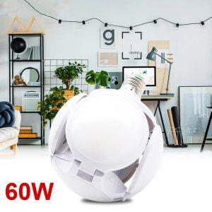Нова супер мощна LED лампа TRANSFORMER BALL 5X, 60W Е27, 6500К студена бяла светлина