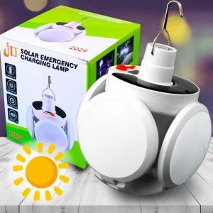 Нова супер мощна ЕКО СОЛАРНА LED лампа TRANSFORMER BALL, зареждаема; студена бяла светлина