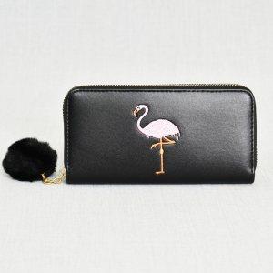 Елегантно дамско портмоне от ЕКО кожа, ЧЕРНО, 21986
