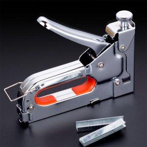 Комплект професионален пистолет-такер 4 - 14 мм + 100 х 3 различни типа скоби