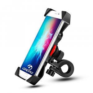 Велосипедна поставка за мобилен телефон до 12 мм с регулируема дължина и здрава сглобка