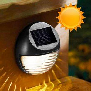 ЕКО соларна LED лампа за двора и градината - безжична декорация за стена, лесен монтаж