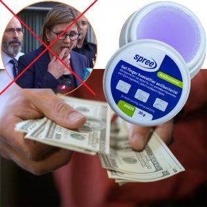 НЕ ПЛЮНЧИ ПРЪСТИ, ползвай антибактериален овлажнител за пръсти, 20 гр.