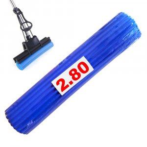 27 см гъба за моп, синя - абсорбираща, с плътна следа на почистване