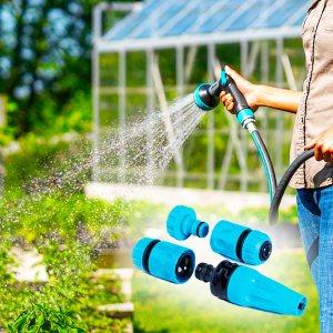 Комплект приставки за поливане, 4 броя за градинския маркуч