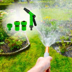 Комплект накрайници и пистолет за поливане с за градински маркуч, 4 броя