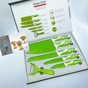 Уникална колекция кухненски ножове Swiss Chef GREEN EDITION - ограничено количество