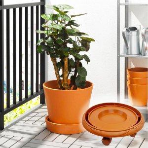 Среден размер поставка с 3 подвижни колеца, за саксии с растения, 25.5 х 12 х 7.5 см