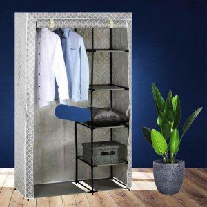 Лек преносим текстилен гардероб , размери 100 х 46 х 173 см,
