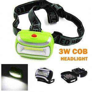 3W COB LED челник с удължено светене, 3 батерии AA, COB HEADLIGHT ZB-912