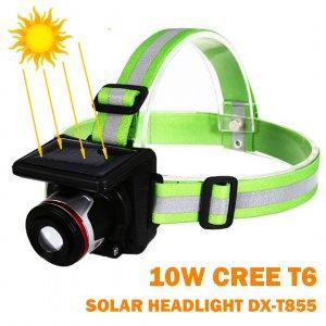 Мощен соларен челник DX-T855 Solar Head Lamp, 1800 mAha