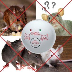 Електронна котка - мощен ултразвуков гонител за мишки, плъхове и дриги гризачи HP AR142