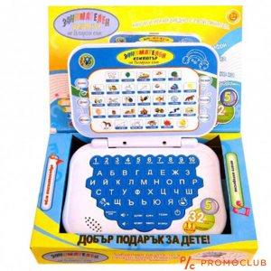 Детски образователен мини лаптоп на български с множество функции, 3+