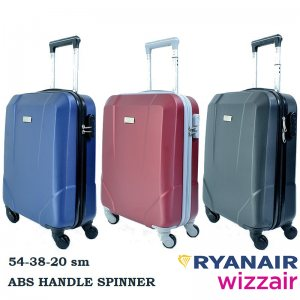 BUSINESS LINE ABS-твърд спинър 2.5 кг за ръчен багаж PERFECT++ за RAYANAIR и WIZZAIR 8067