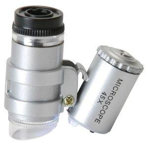 Невероятен джобен електронен микроскоп с увеличение 45X, LED и 9595, дждж