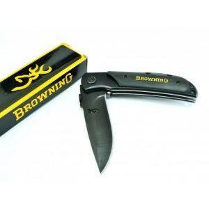 Бутиков сгъваем нож BROWNING DEER HEAD 338T BLACK с дървена дръжка и подаръчна кутия