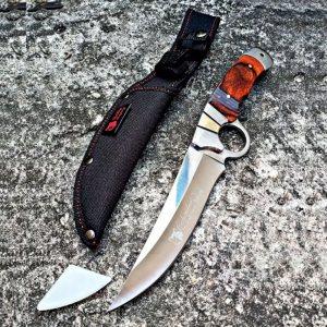 Ловен нож COLUMBIA А10 SECURE FIT със специална дървена дръжка и кръгъл ефес