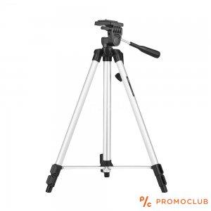 Статив за фотоапарат/камера PRO Tripod с бързо фиксиране, манивелно регулиране и нивелир