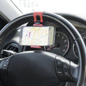 Иновативна стойка за телефон за волана на автомобила CAR ST.WHEEL1761 phone socket holder