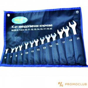 За професионалисти - комплект 13 подсилени звездогаечни ключове №6-22 мм, 1.33 kg