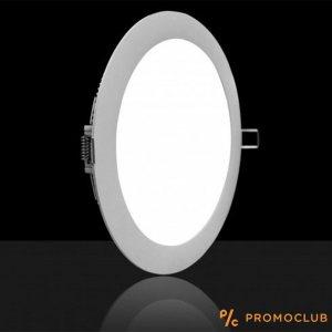LED панел VTAC 18W за вграждане, висока светимост топло или студено, аналог на 150W крушка