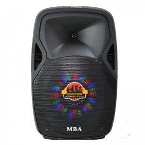 Мощна активна караоке парти колона MBA F15Q 15 инча 500W с LED светлини