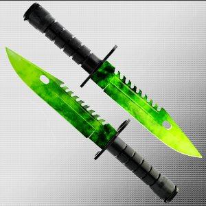 Геймърски нож COUNTER STRIKE CS M9 BAYONET ELITE EMERALD M10 с ПОДАРЪК -  стойка
