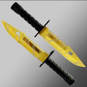 Геймърски нож COUNTER STRIKE CS M9 BAYONET TIGER TOOTH M15 с ПОДАРЪК -  стойка
