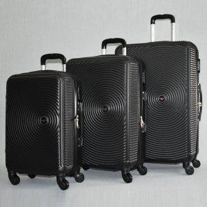 ЛИКВИДАЦИЯ: комплект 3 броя ABS куфари ART GALERY PICASSO 8080,  скрит механизъм,  BLACK
