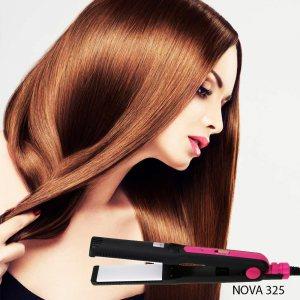 Удобна и бърза преса за изправяне на коса с широки керамични плочи NOVA 325