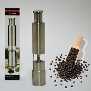 Метална механична мелничка за черен пипер,  компактна с бутон за палец