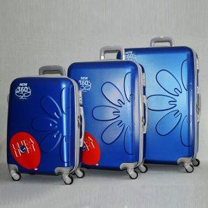 Комплект леки PVC авио спинъри - куфари PL 8081 La FLEUR BLUE