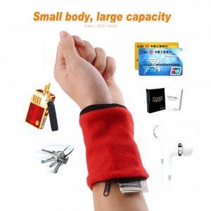 Спортен портфейл за китка, уникален аксесоар за джогери и катерачи, Wrist Wallets