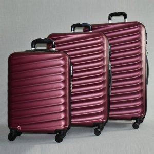 ЛИКВИДАЦИЯ: комплект твърди и леки куфари с всички екстри ART LINE 8091 BORDEAUX, ABS