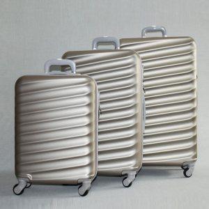 ЛИКВИДАЦИЯ: комплект твърди и леки куфари с всички екстри ART LINE 8091 CHAMPAIGNE, ABS