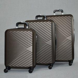 ЛИКВИДАЦИЯ: комплект твърди и леки куфари с всички екстри Urban LINE 8092 COFFEE, ABS
