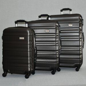 Комплект 3 броя ABS твърди и леки спинър-куфари PERFECT++ LINE 1253 DARK GRAPHITE