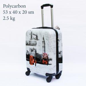 Куфар-спинър за ръчен багаж GREAT BRITAIN 910 LIMITED, поликарбон, RED BUS & CABIN