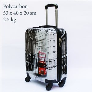 Куфар-спинър за ръчен багаж GREAT BRITAIN 910 LIMITED, поликарбон, RED BUS