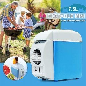 Компактен  инверторен авто хладилник за храна и напитки, 7.5L, 12V, 37W, охлажда и затопля