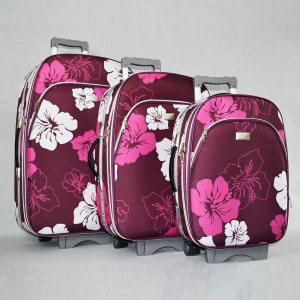 ТОП ЦЕНА:  комплект разширяващи се леки куфари 1518 FLOWER RED, 3 броя