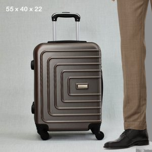 ТОП ЦЕНА:  ABS спинър за ръчен багаж PL107 BROWN COFFEE, 55x40x22, пластмаса