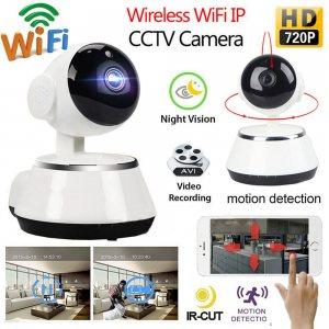 WiFi охранителна камера HD2MPx, IR, бебефон, microSD, дистанционно управлeние