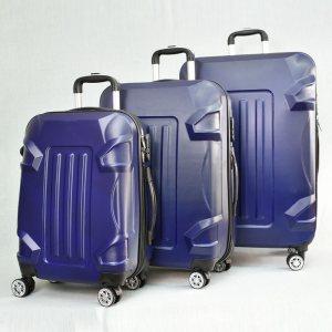 BF SALE: 3 броя куфари: твърди, здрави и леки пластмасови спинъри 16011 BLUE, С ДОСТАВКА