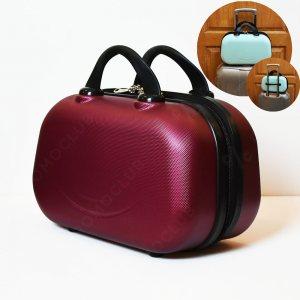 Рядък дизайн куфарна пътна чанта LADY B BORDEAUX, твърда ABS