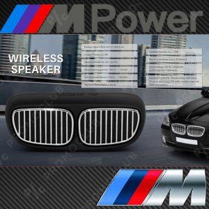 BMW DESIGN BLACK портативна тонколона, мощна с кристален звук, FM, MP3, SD, AUX