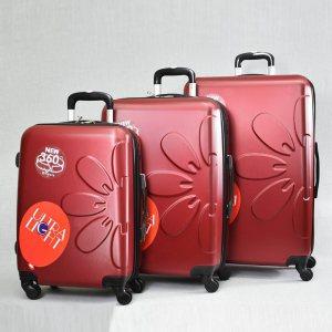 Комплект леки PVC авио спинъри - куфари PL 8081 La FLEUR  RED