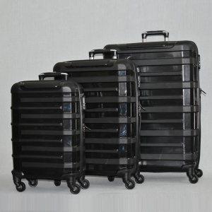 3 броя спинър куфари URBAN BUSINESS BLACK 31185, полипропилен