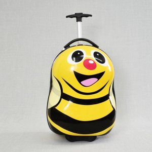 Детски куфар на колела YELLO BEE 31799, изтегляща се дръжка за теглене, поликарбон